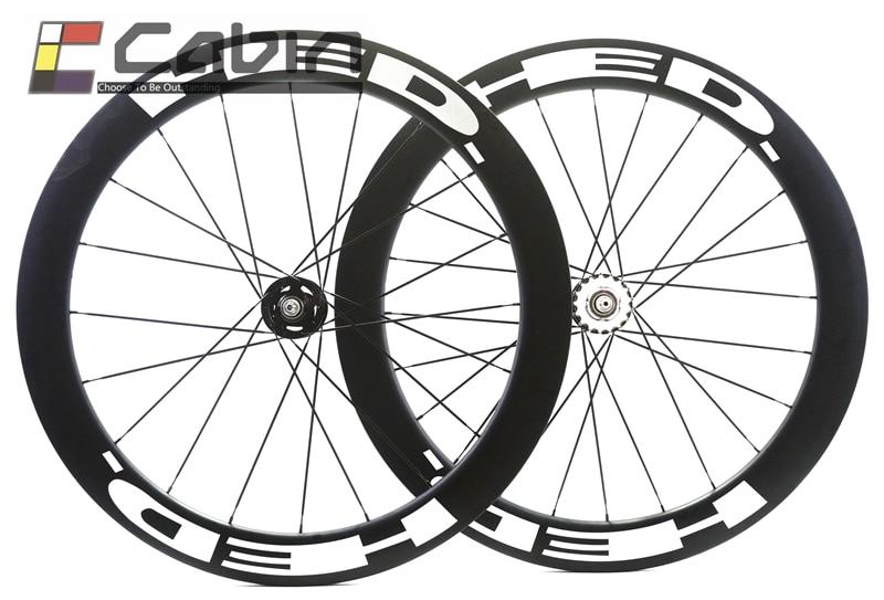 HED track bike carbon wheelset, 60mm clincher/tubular ,700C track bike carbon wheel,fixed gear стоимость