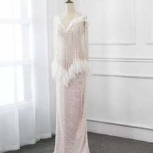 YSF Vintage Straight Floor Length Evening Dresses 2019