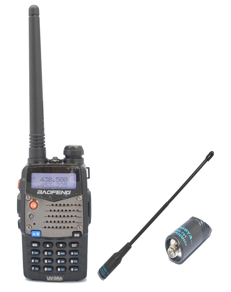 New Baofeng UV5RA Two Way Radio 136-174/<font><b>400</b></font>-520 <font><b>MHz</b></font> +NEW Nagoya 701-F <font><b>antenna</b></font> image
