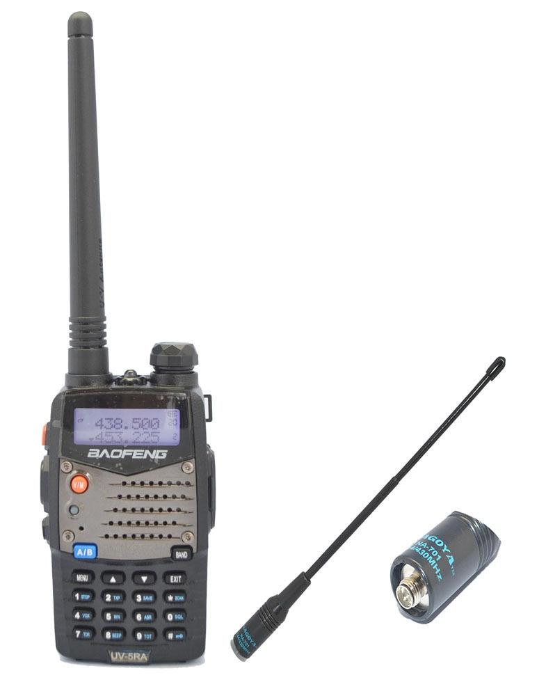 Nouvelle Radio bidirectionnelle Baofeng UV5RA 136-174/400-520 MHz + nouvelle antenne Nagoya 701-F