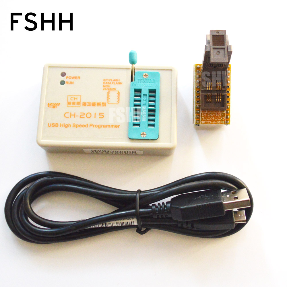 copy USB Programmer CH2015 SPI FLASH High-speed Programmer+24c/24lcXX SOT23-6 Adapter FLASH/EEPROM Programmer free shipping rt809f usb spi programmer v1 8adapter spi flash sop8 dip8 w25 mx25