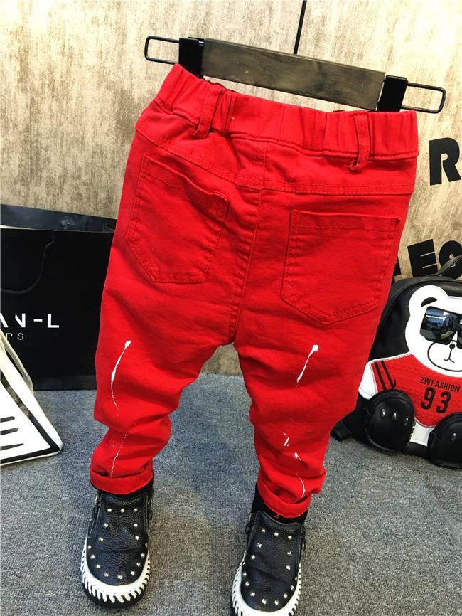 children baby boys autumn winter thick warm jeans pants (4)