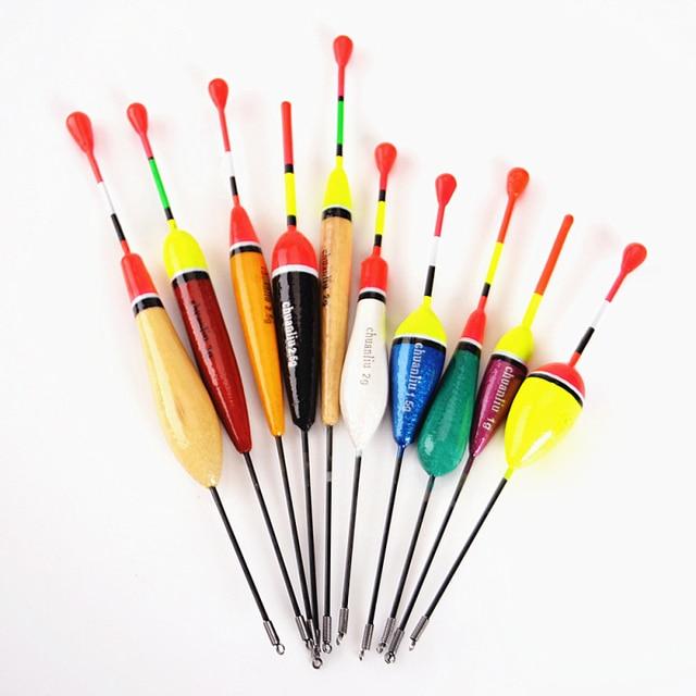 10 PCS/charge hohe qualität gemischt größe farbe eis angeln schwimm float boje tintenfisch tackle zubehör fisch float