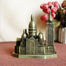 Paris Sacred Heart Cathedral Metal Decoration Building Model Tour Memorial Decorative Collection