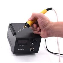 Digital Pyrography Machine 60W Adjustable Temperature Woodworking Tool Adjustable Temperature Woodworking Burning Pen Craft Tool