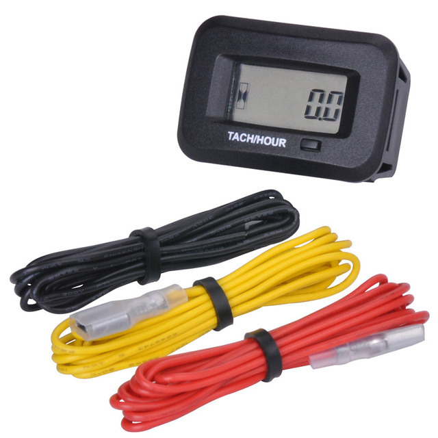 Runleader digital RPM Hour Meter Tachometer For Gas Engine 2 4 Stroke generator ATV Boat Tractor Marine sprayers chipper trailer