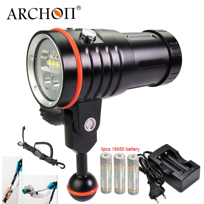 ARCHON D35VP-II UPDATE D35VP W41VP Underwater Photographing Light Underwater Diving Fashlight Video Torch