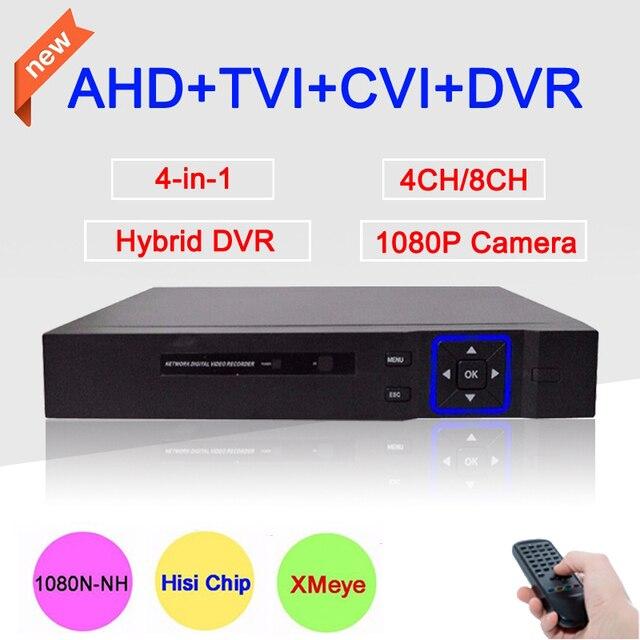 Nova caixa de metal azul dvr 4ch/8ch 1080 p/960 p/720 p/960 h xmeye app coaxial quatro em um Híbrido Coaxial CVI TVI AHD DVR Livre grátis