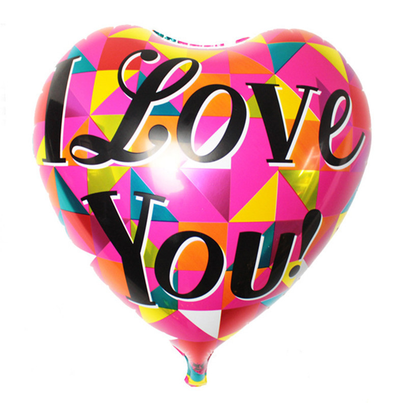 The new aluminum decorative heart-shaped love balloon party birthday balloon who
