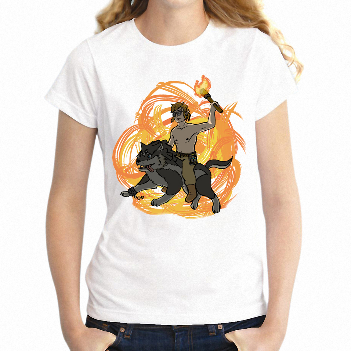 T-shirt Zelda Breath of The Wild Link Battle 1