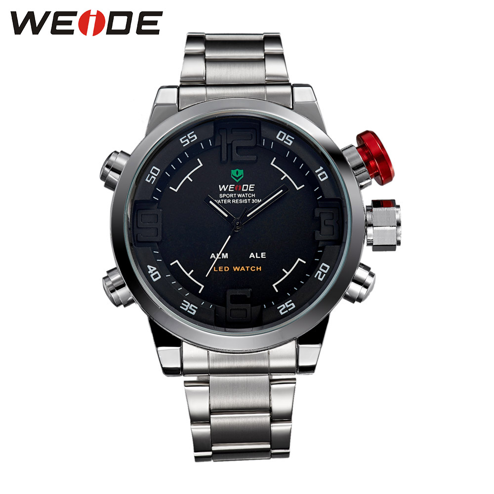 WEIDE Casual Brand Luxury Watch Men High Quality Quartz Watches Digital New Hot Stainless Steel Relogio Masculino WH2309 new fashion brand round dial black couple watch men luxury stainless steel casual quartz watches relogio masculino clock hot