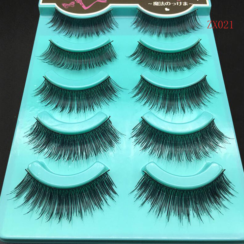 5 pairs 100% Real Fake Eyelashes 3D lash Natural Long Thick False Eyelashes Soft Eyelash Extension Makeup Kit C174