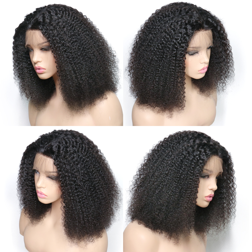 Afro Kinky Curly Lace Front Human Hair Wigs For Black Women Glueless Brazilian Remy Hair Lace