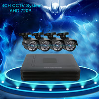 Hiseeu DVR Camera 4CH DVR For CCTV Camera Kit 1200TVL IR 720P Bullet Outdoor AHD Camera