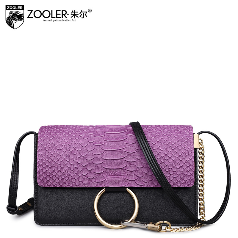 ZOOLER Women Crocodile Pattern Genuine Leather Shoulder Bag Ladies Fashion Small Crossbody Bags Female Cowhide Messenger Bags