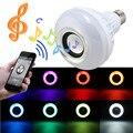 RGB LEVOU Lâmpada E27 12 W Sem Fio Bluetooth Speaker Música jogar 16 Cores Lâmpada Lâmpada de Iluminação Com 24 Remoto Chave controlador
