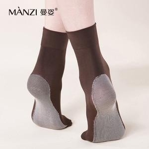 Image 2 - MZ42001 マンチ女性の 100d竹炭滑り止め ベルベット ショート ソックス脱臭通気性竹繊維靴下6 ペア/ロット