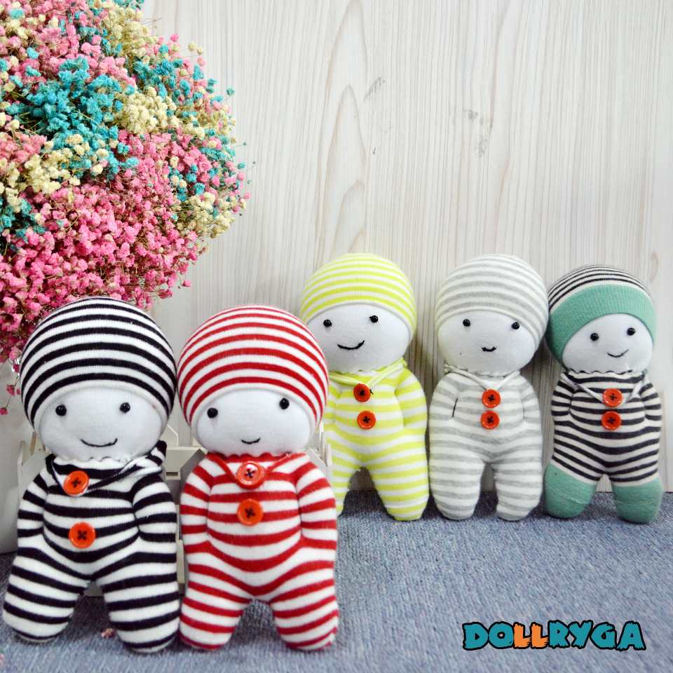Kids Crafts DIY Kindergarten Handwork Unfinished Puppet Children Toys Sewing Doll With Filled Cotton Adult Handmade Sock Doll