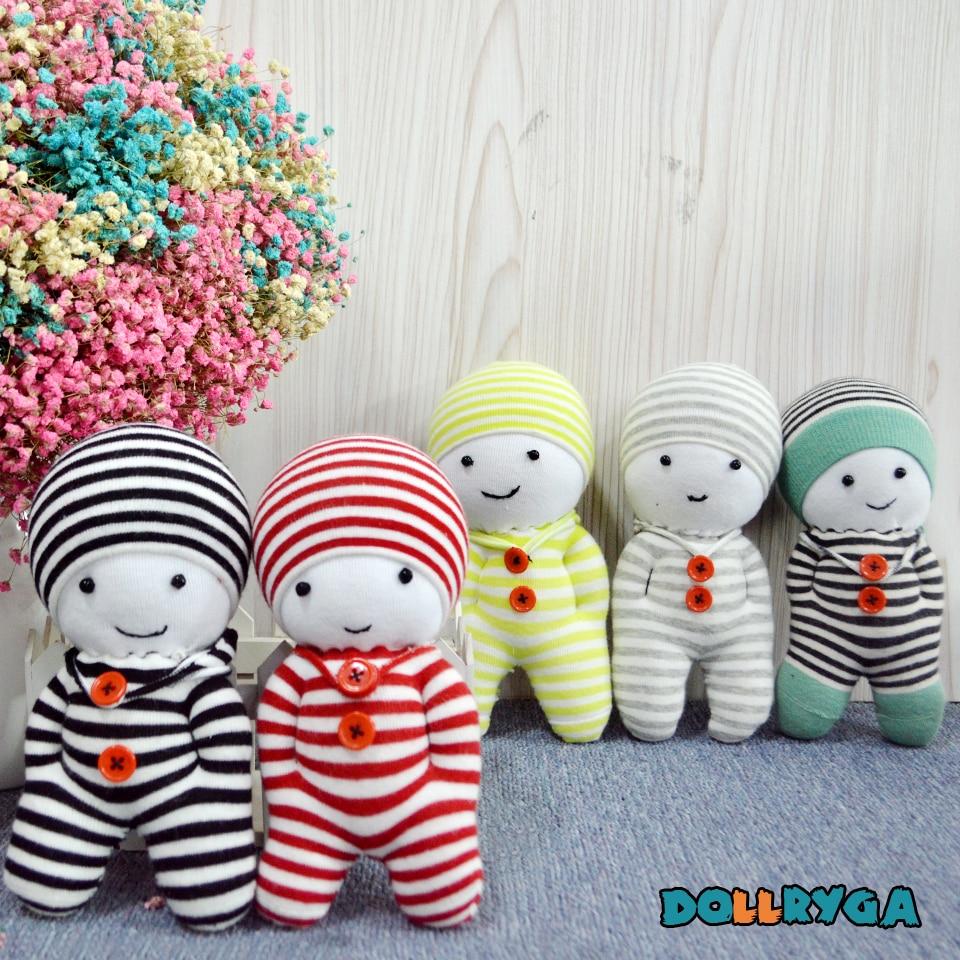 Kids Crafts DIY Kindergarten Handwork Unfinished Puppet Children Toys Sewing Doll With Filled Cotton Adult Handmade Sock Doll