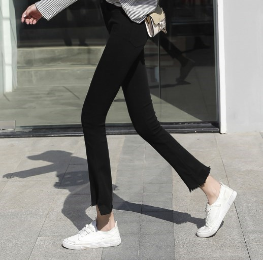 Nouvelle tendance 2019 femmes noir Skinny évasé Leggings taille haute Leggins femme Push Up Leggings grande taille Flare pantalon 4XL 5XL - 2