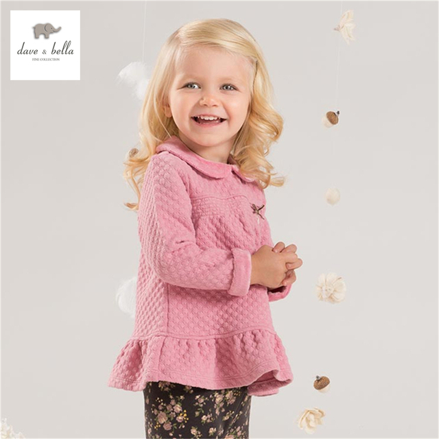DB4244 dave bella baby girls autumn cute pink clothing set