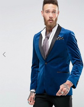 High Quality Velveteen Groomsmen Shawl Lapel Groom Tuxedos Men Suits Wedding/Prom Best Man Blazer ( Jacket+Pants+Tie) A40 high quality velveteen groomsmen shawl lapel groom tuxedos men suits wedding prom best man blazer jacket pants tie a48