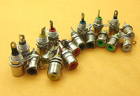 DHL/EMS 1500PCS 6 color Audio Video RCA Socket jack Panel Soldering for CCTV Video camera A8