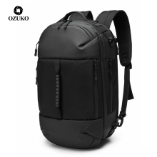 OZUKO Male Multifunctional Black 15.6 inch Laptop Backpack Men Waterproof Large Capacity Backpacks Travel Bags Mochila New 2019