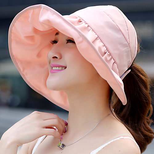 2016 Summer Women Bucket Hat Chapeau Fashion Wide Brim Sun Protection Printed Floral Hat Sunbonnet Beach Cap  B-2266