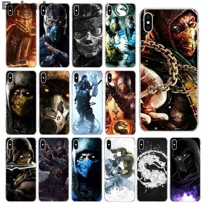 Babaite skorpiona w Mortal Kombat smart cover przezroczysta powłoka etui na telefon do Apple iPhone 8 7 6 6S Plus X XS MAX 5 5S SE XR
