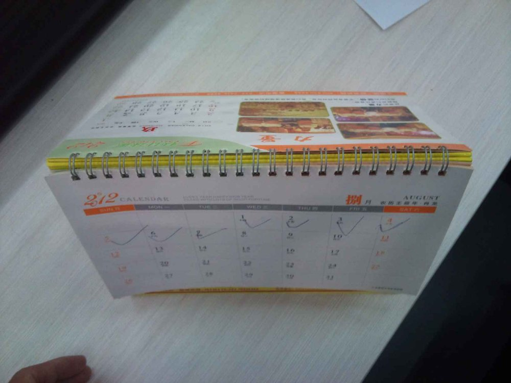 promotion customized calendar printing from printing factory