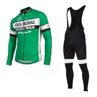 winter thermal fleece 2017 pro team CAJA RURAL cycling jersey coat Ropa Ciclismo racing bike clothing MTB Bicycle maillot gel