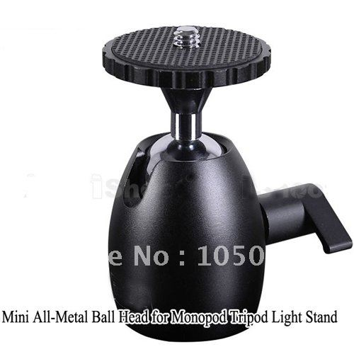 Light Stand Head Adapter: 1/4'' Hot Shoe Mount Stand Adapter Mini All Metal Ball