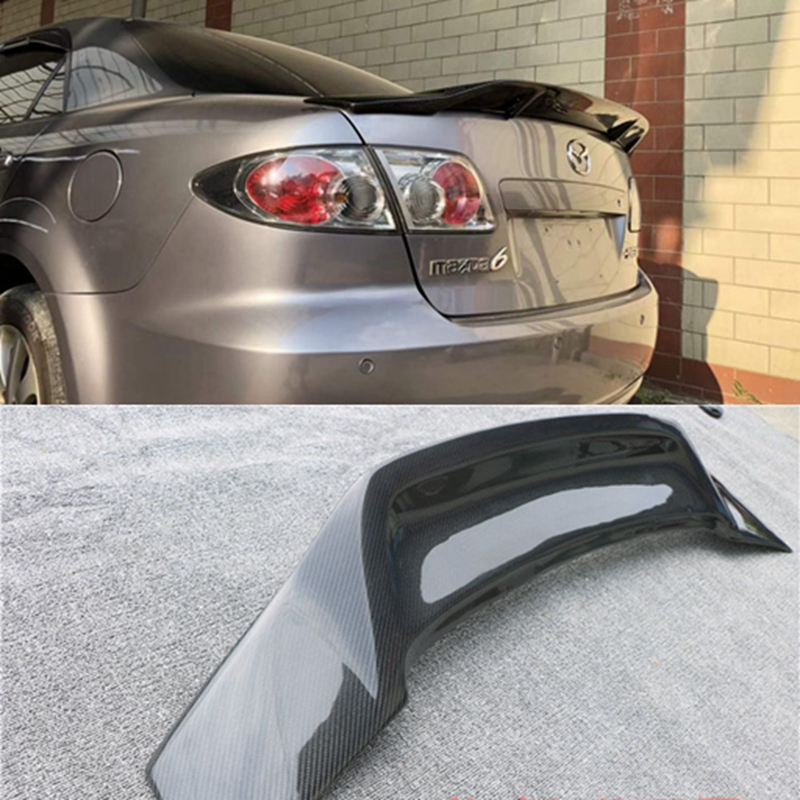 for mazda 6 spoiler 2003 2015 spoiler High Quality Carbon Fiber Car Rear Wing Primer Color Rear Wing Spoiler