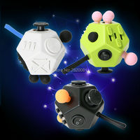 Fidget Cube Toys 12 Sided Multifunction Relief Way Magic Cube 3 Colors Fidget Spinner Cube Anti