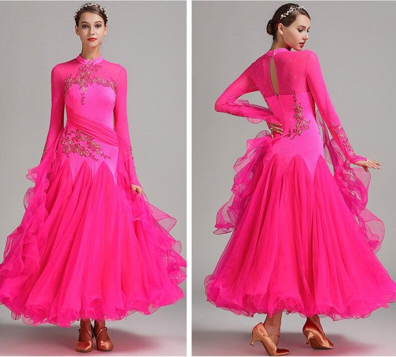 9 colores rojo azul danza de salón de baile vals vestido de baile ...