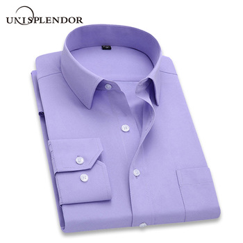 2019 Men Dress Shirt Long Sleeve Slim Brand Man Shirts Designer High Quality Solid Male Clothing Fit Business Shirts 4XL YN045