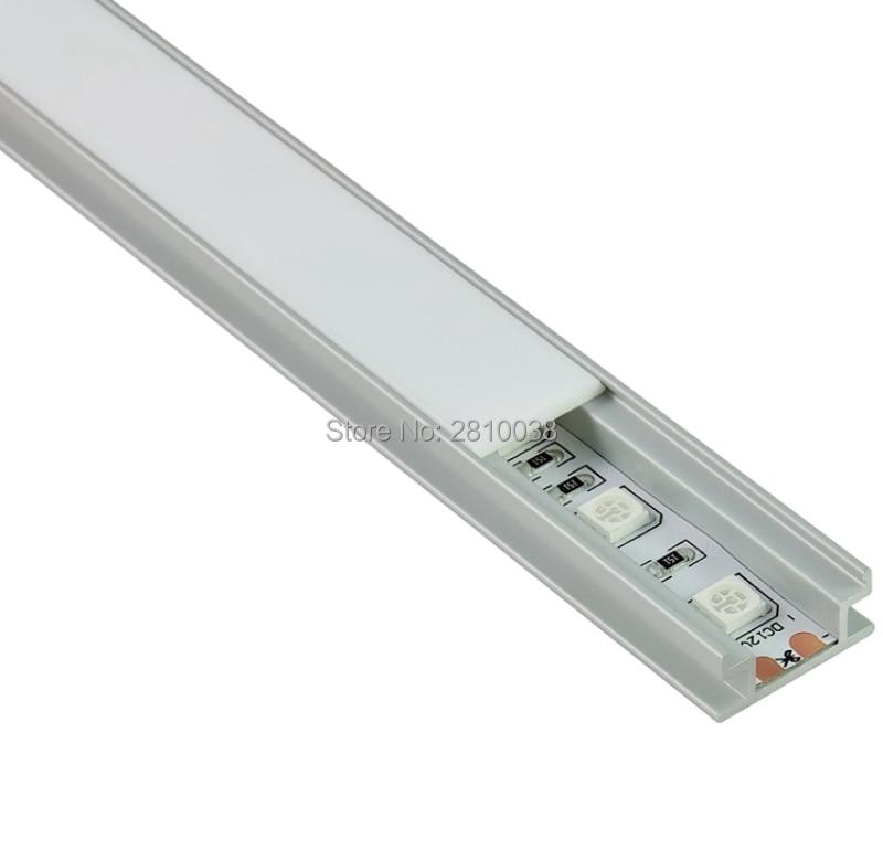 10 կոմպլեկտ / Lot H Shape Anodized Silver Silver- ի LED - LED լուսավորություն - Լուսանկար 3