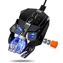 MZ-03 Wired RGB LED Backlit Breath 4000DPI + 8 Buttons Gaming Mouse Mice Metal USB Ergonomic Optical Gamer Mouse Laptop Computer