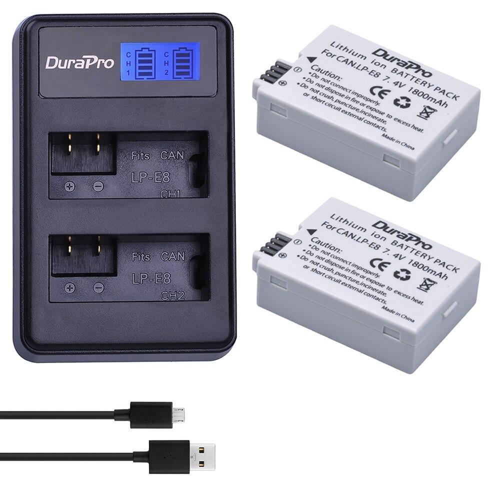 1pc 74v 1500mah Lp E8 Lpe8 Rechargeable Digital Camera Battery Batre Canon Untuk Tipe Kamera Eos 550d 600d 700d 2pc For Batteries Li Ion