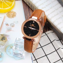 Hot 2019 New Arrival Woman Fashion Leather Band Business Analog Quartz Round Wrist Watch Luxury Watches часы женские