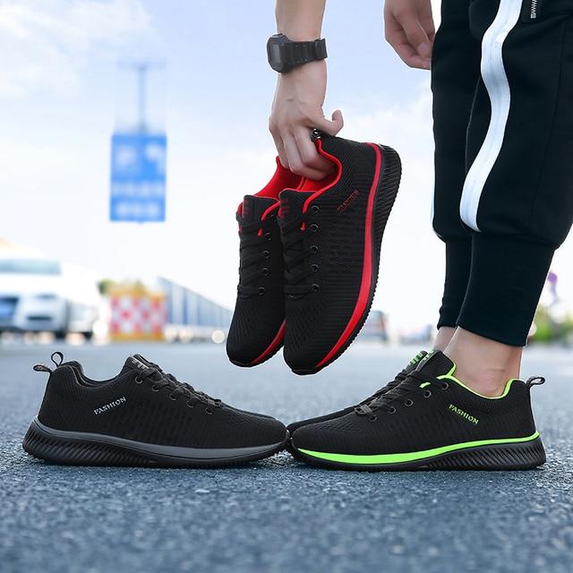 Đàn ông Breathable Casual Giày Cho Nam Giới Thời Trang Giày Thể Thao Ánh Sáng Thương Hiệu Giày Đi Bộ Ngoài Trời Mùa Hè Phẳng Thoải Mái Giày Zapatillas