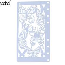 Butterfly DIY Scrapbooking Plastic Stencil Ruler Scrawl A6 Page Template Photo Album Journal Drawing Painting Tool Stationery