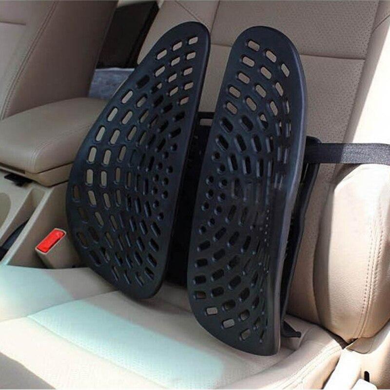 Soutien lombaire de voiture taille universelle renfort dorsal coussin été respirant chaise siège arrière Supports accessoires d'intérieur de voiture