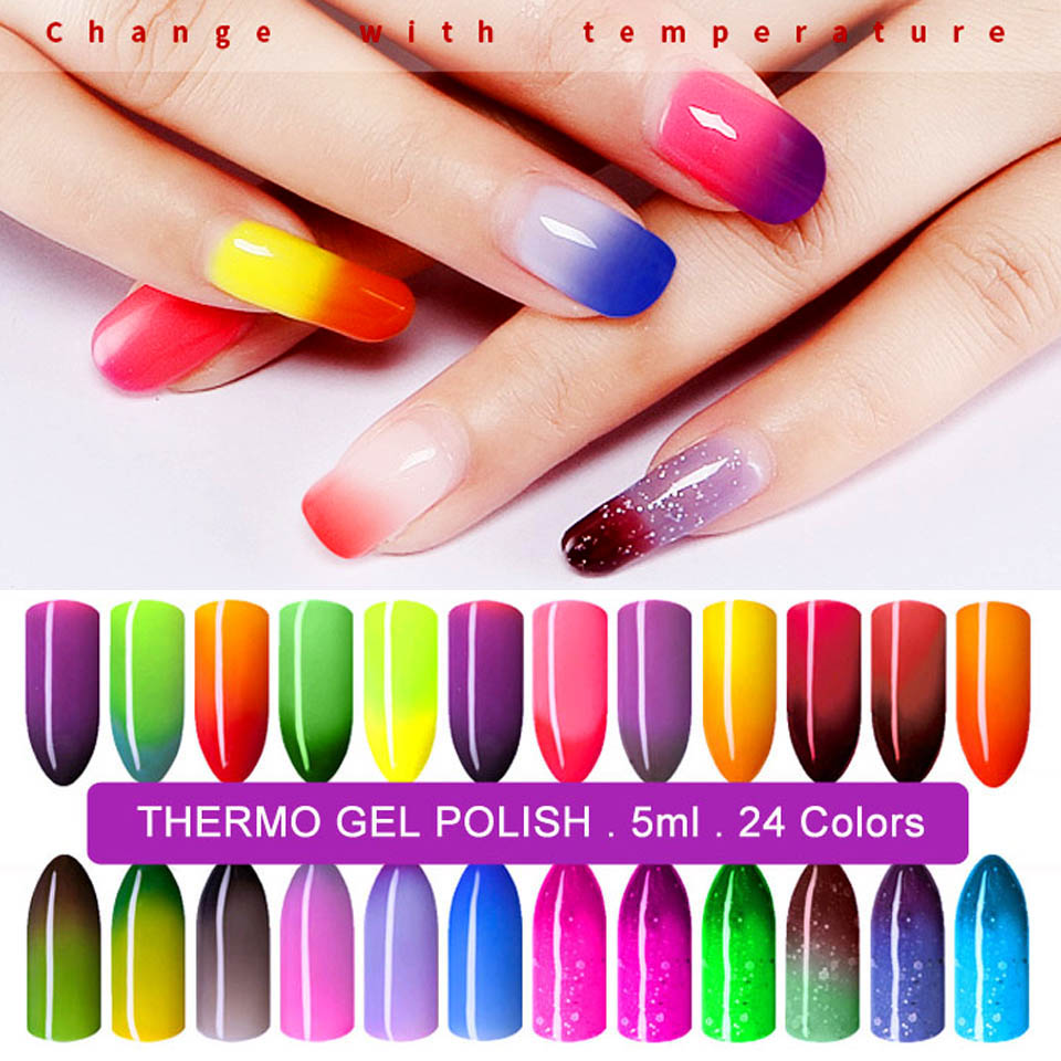 Online Shop 5ml Temperature Change UV Nail Gel Polish Thermo Gel ...