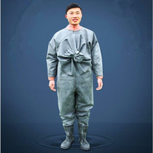 High-Jump Outdoor Fly Fishing Clothing Waders 1MM Rubber Waterproof Breathable Fishing Clothing Overalls for Hunting Fishing