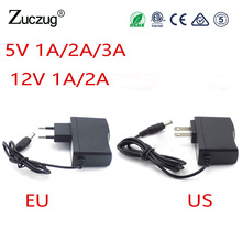 Power Adapter AC to DC 5V 1 2 3A 12V 1A 2A Adaptor 5 12 v Switching Charger Supply EU US Plug transformator 220V For Led Strip 12 6v 1a eu plug lithium battery charger charger 12 6v power adapter charger with wire lead dc 5 5 2 1mm