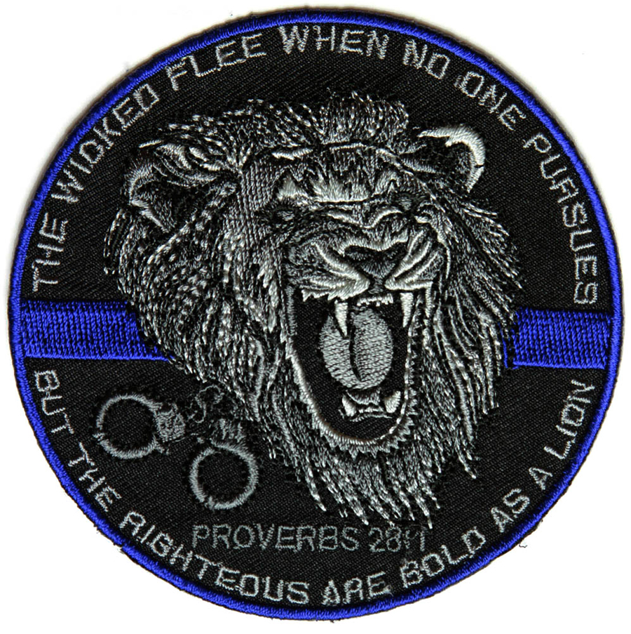 The Righteous Are Bold As A Lion Patch For Law Enforcement - 3.5 3.5 inch