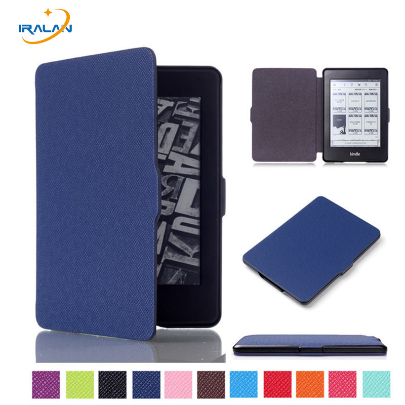 Fashion PU Leather Ultra Slim smart  Cover Case For Amazon Kindle Paperwhite 1 2 3 6Case Tablet Shell With Sleep&Wake Up+Stylus cy ultra slim premium protective shell leather cover for amazon kindle paperwhite 1 2 3 2013 2014 2015 model 6 ebook case
