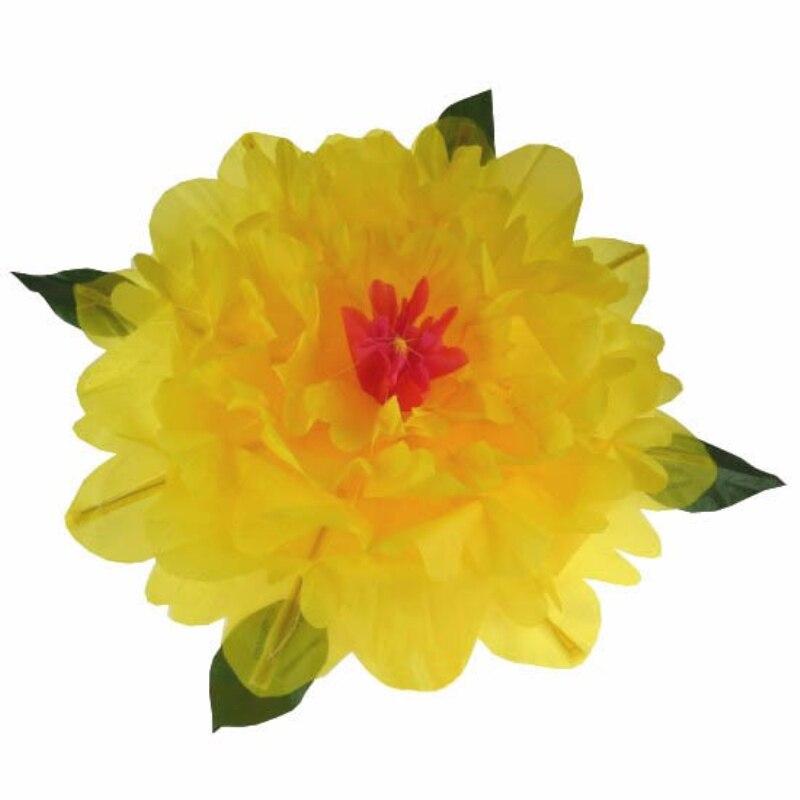 Grande apparence pivoine tours de magie de haute qualité pivoine jaune (diamètre 80 cm) accessoires fleurs stade magique